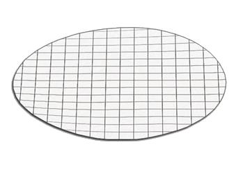 membrana blanca con rejilla negra