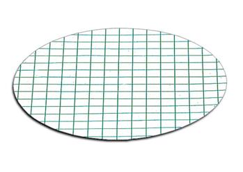 membrana blanca con rejilla verde